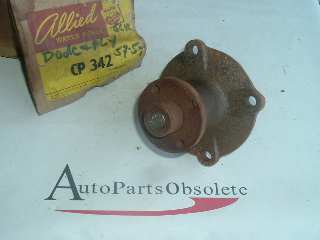 1957 58 59 Plymouth Dodge 6cyl new water pump (A cp342)