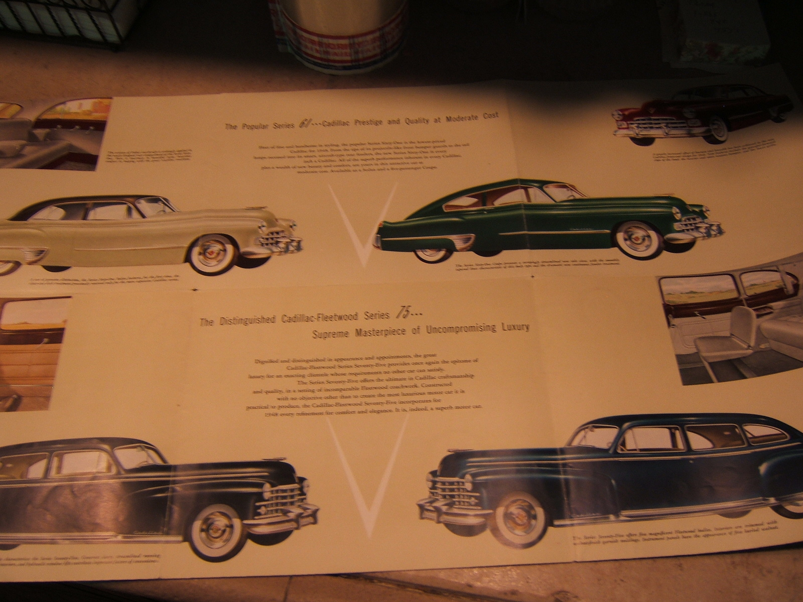 1948 Cadillac sales brochure (a 48 cadillac)