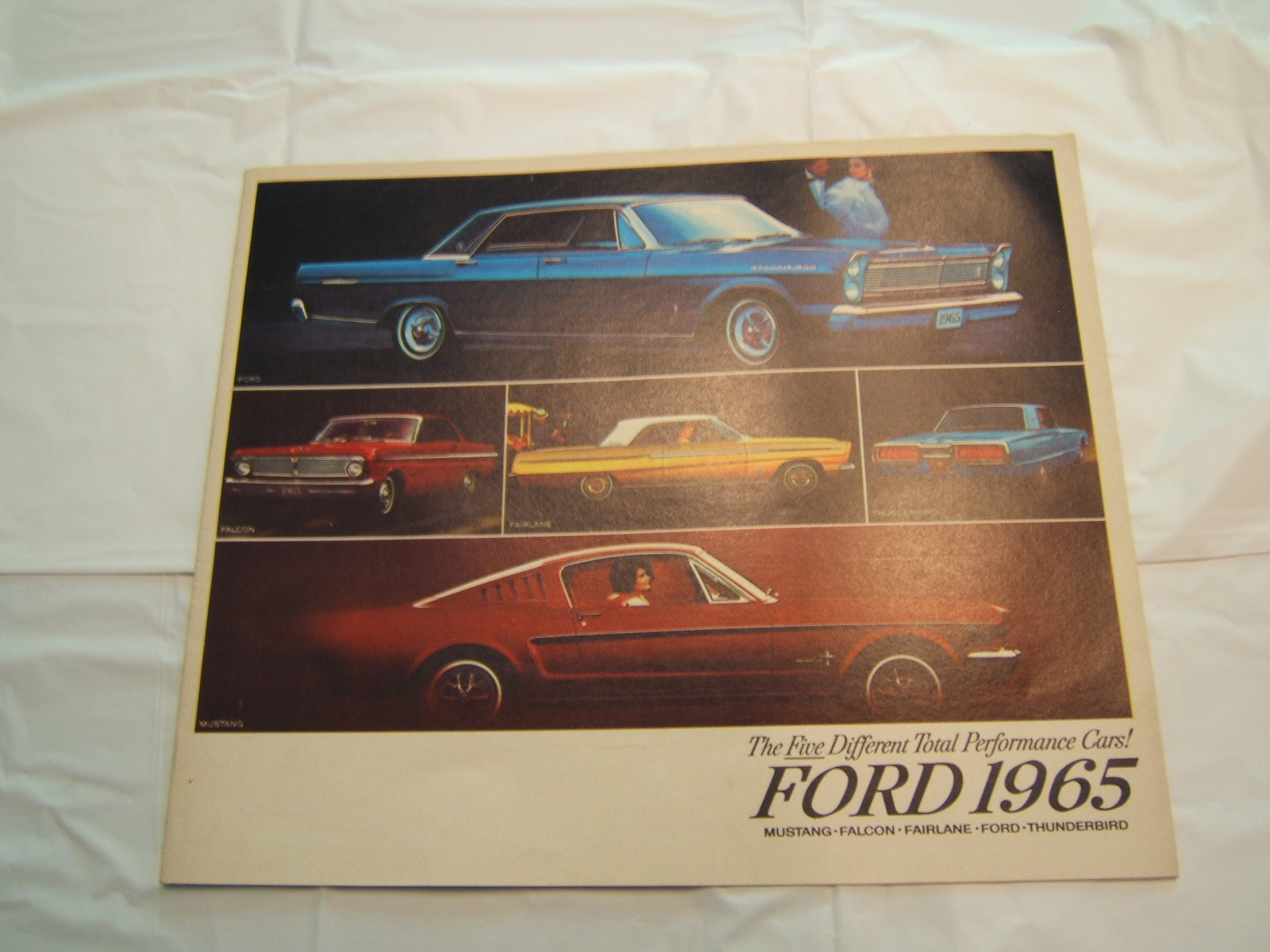 1965 FORD SALES BROCHURE (A 65 FORD 5 diff)
