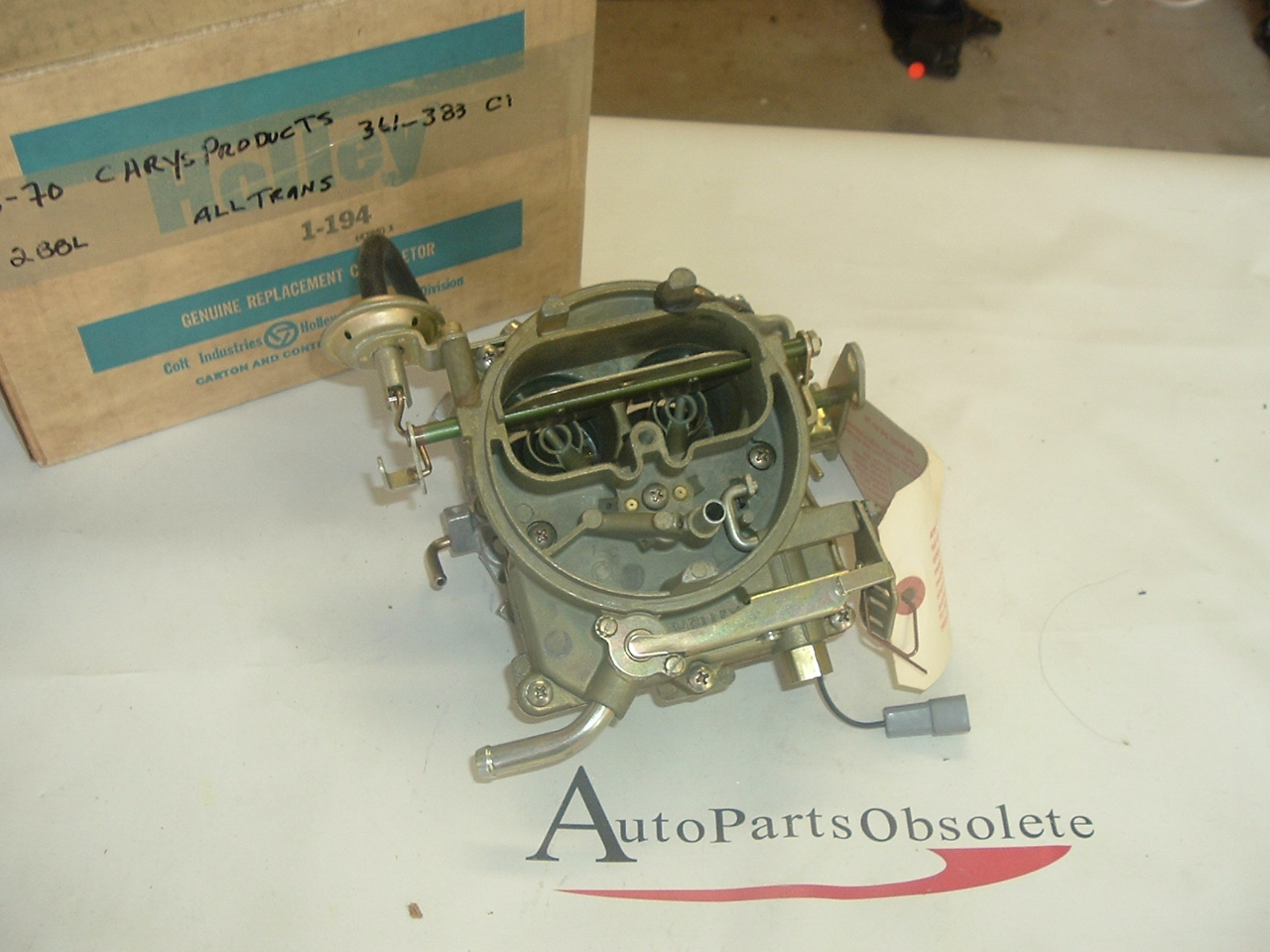 1959 - 1970 Chrysler Dodge Plymouth Mopar 360 361 383 carburetor nos Holley (a 1-194)