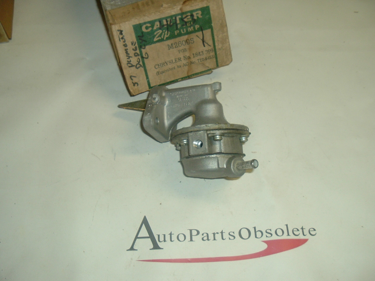 1957 58 59 Dodge Plymouth fuel pump 6 cyl carter 2609