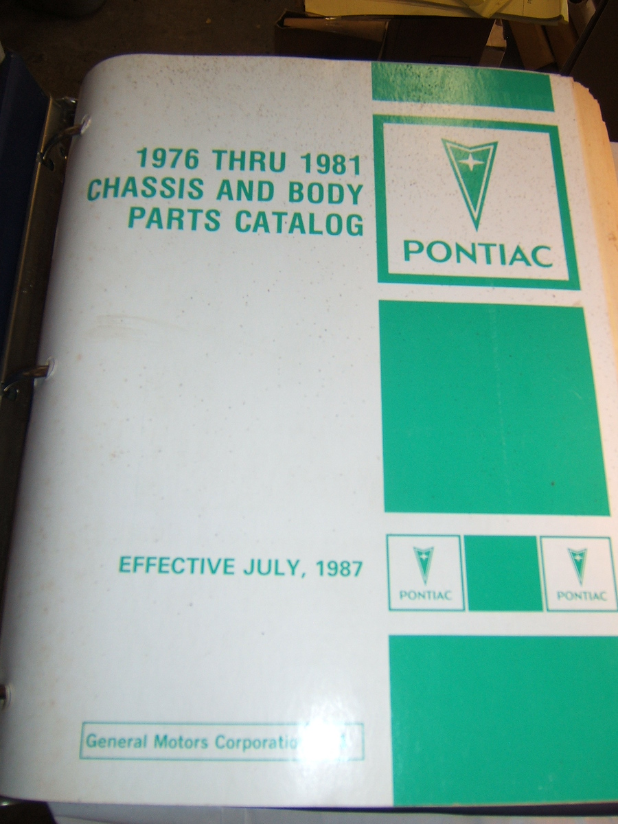 1976 – 81 Pontiac master parts book (a pont mst 76 – 81)