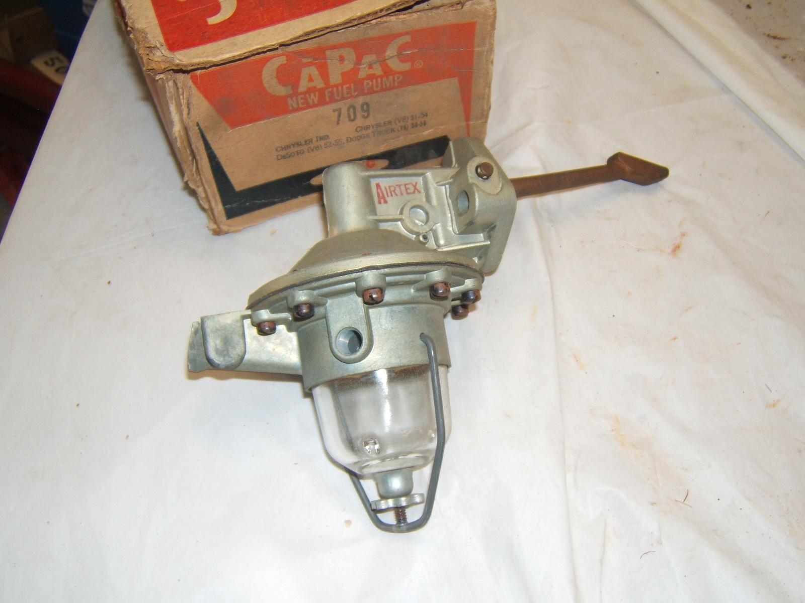 1951 52 53 54 55 Chrysler Desoto glass bowl fuel pump #9651 #709 (A 9651W1)