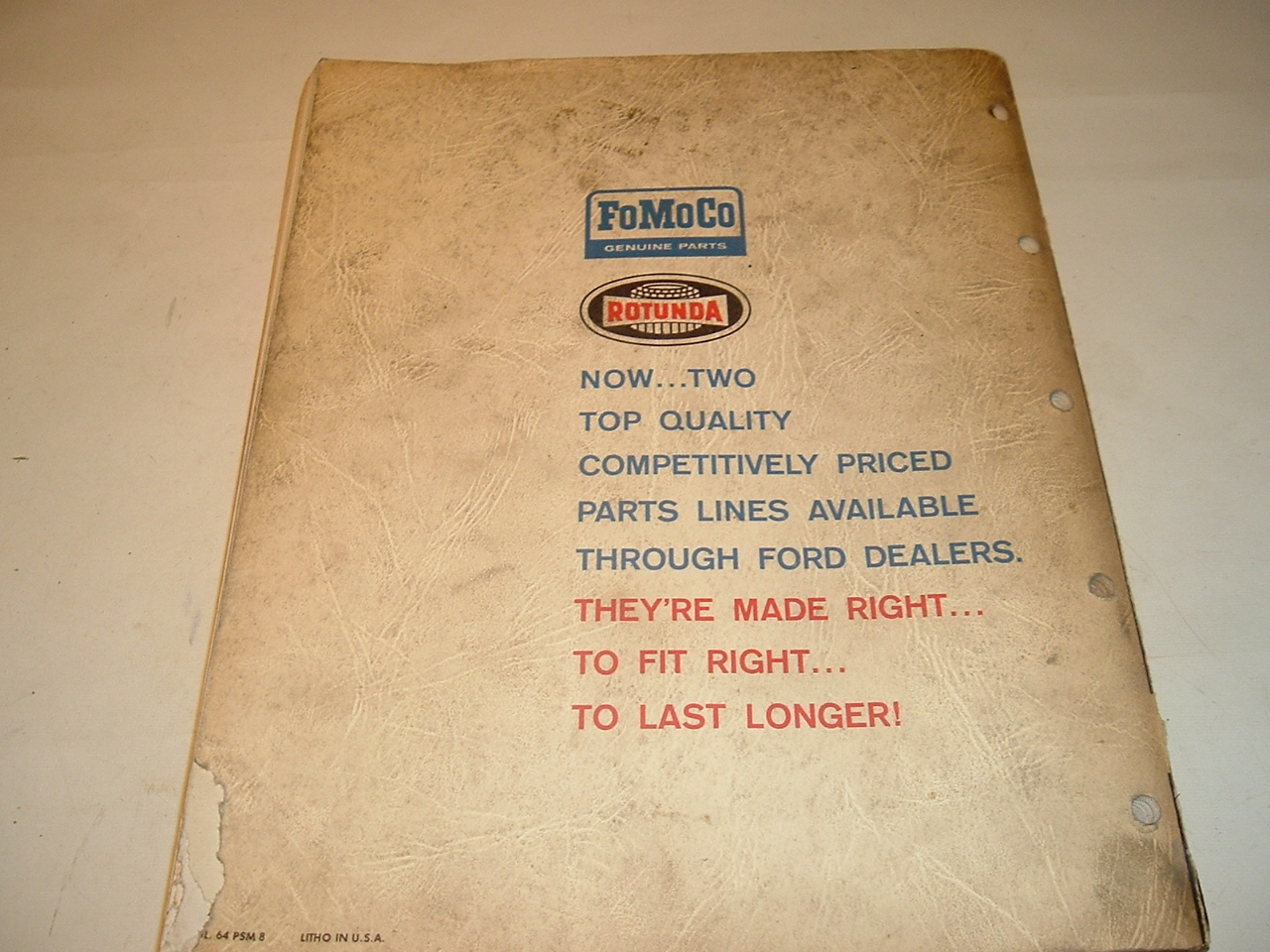 1964 Ford Autolite Quick Reference parts Catalog (A 1964 Ford Q ref)