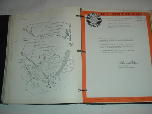 1962 Oldsmobile Dealer Technical Bulletin Set (a 62oldstechset)