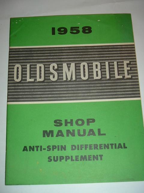 1958 Oldsmobile Differential Shop Manual