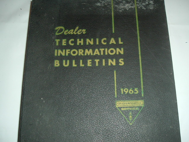 1965 Oldsmobile Dealer Technical Bulletin Set (a 65 olds tech set)