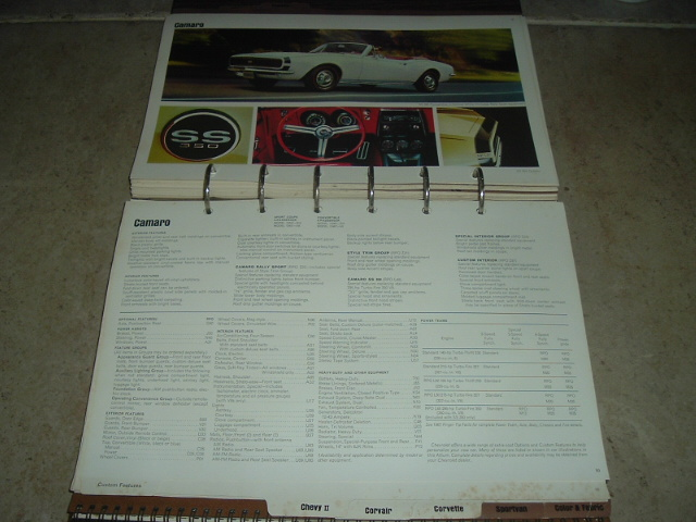 1967 Chevrolet Dealer Showroom Album Corvette Camaro (a 67chevydealerbook)w