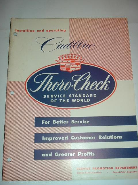 1953 Cadillac Thoro Check Manual (a 53caddythoro)