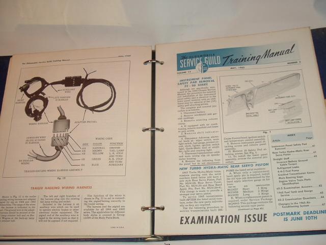1964-66 Oldsmobile Service Guild Training Manual Set (a 66oldsset)
