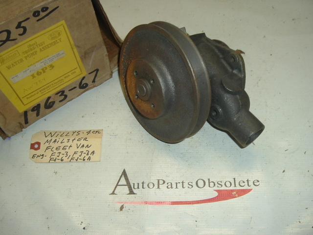 1963 1964 1965 1966 1967 Jeep mailster fleet van water pump (A 16p3)