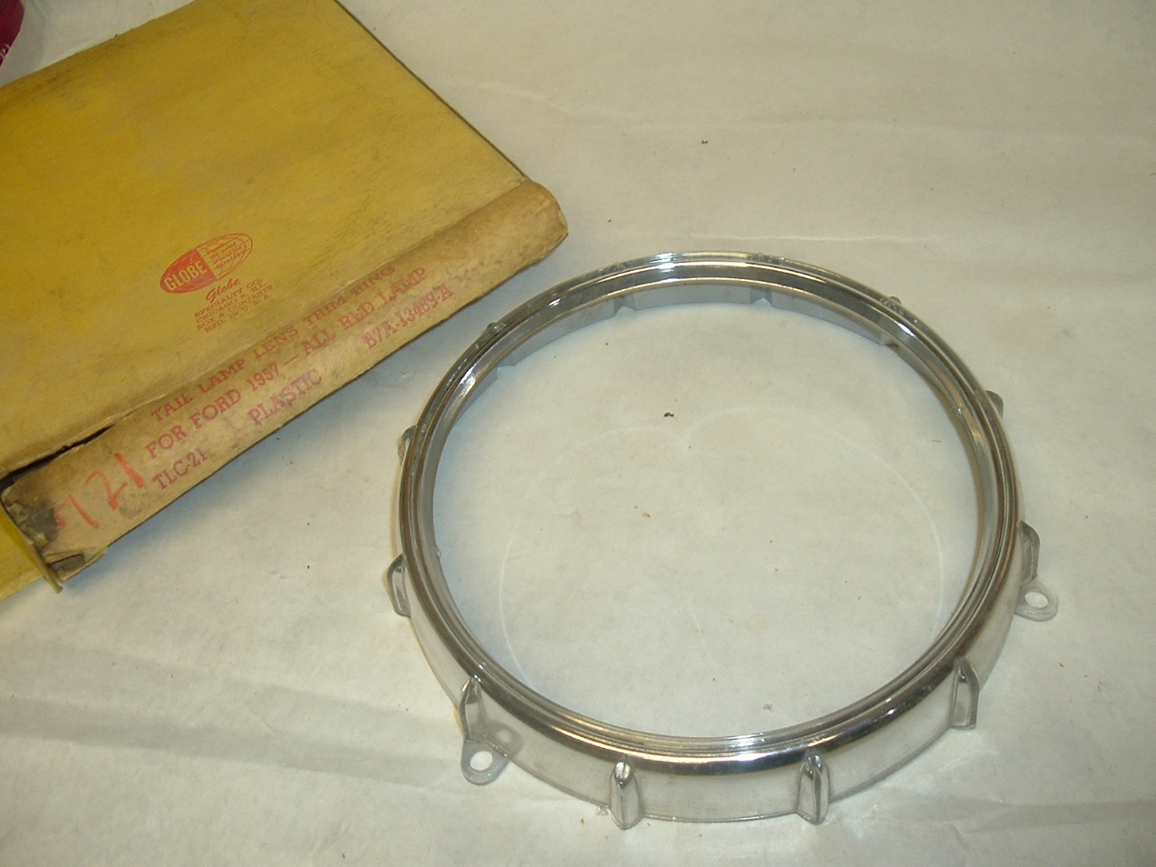 1957 Ford tail lamp chrome retainer ring