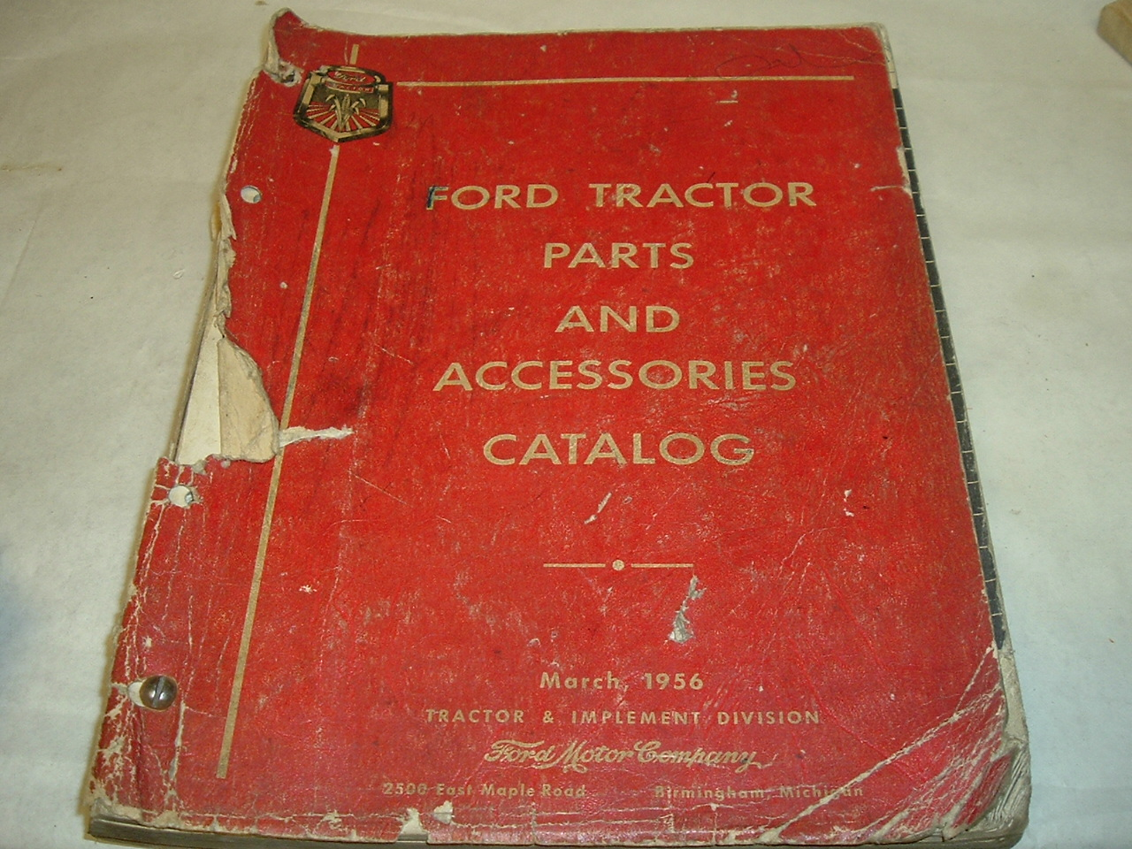 1939 -55 Ford Tractor parts master catalog (a tractor catalg)