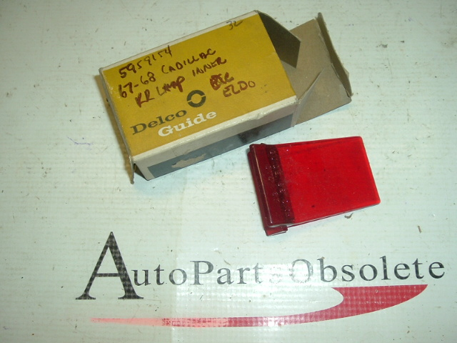 1967 1968 Cadillac tail light lens inner nos gm (a 5959154)