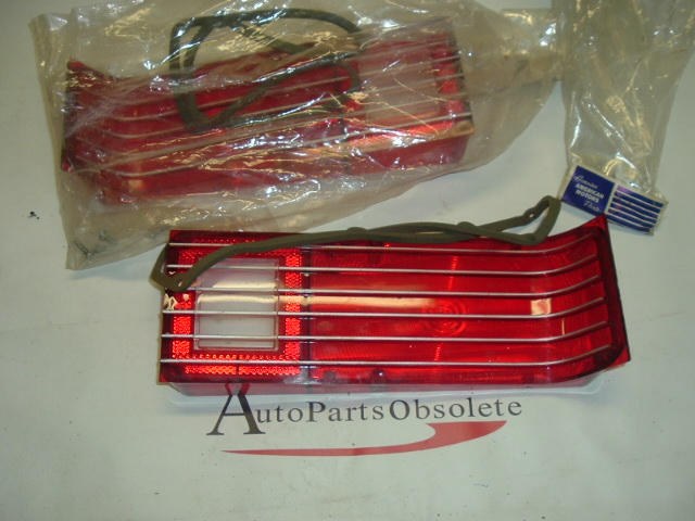 1969 AMC Ambassador tail light lens paIR NOS (4486288 4486289)