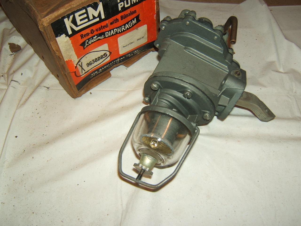 1952 1953 Ford / Pickup 6dual action fuel pump reman #9638 (a9638ds rblt)