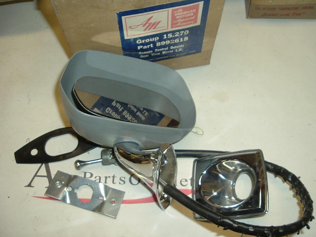 View Product1970 1971 Rambler Rebel MAchine Ambassador remote mirror nos 8992618 (a 8992618)
