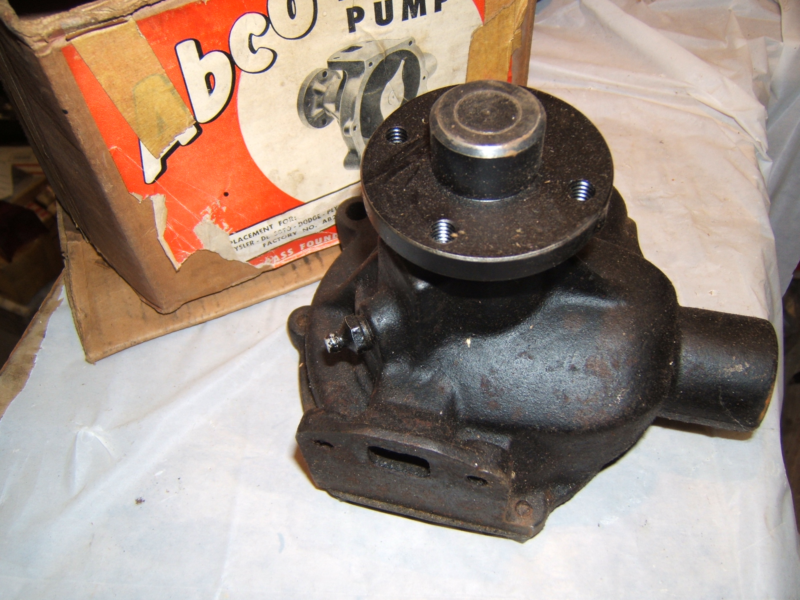 View Product1935 -50 Chrysler Dodge Plymouth new water pump (a Ab264)