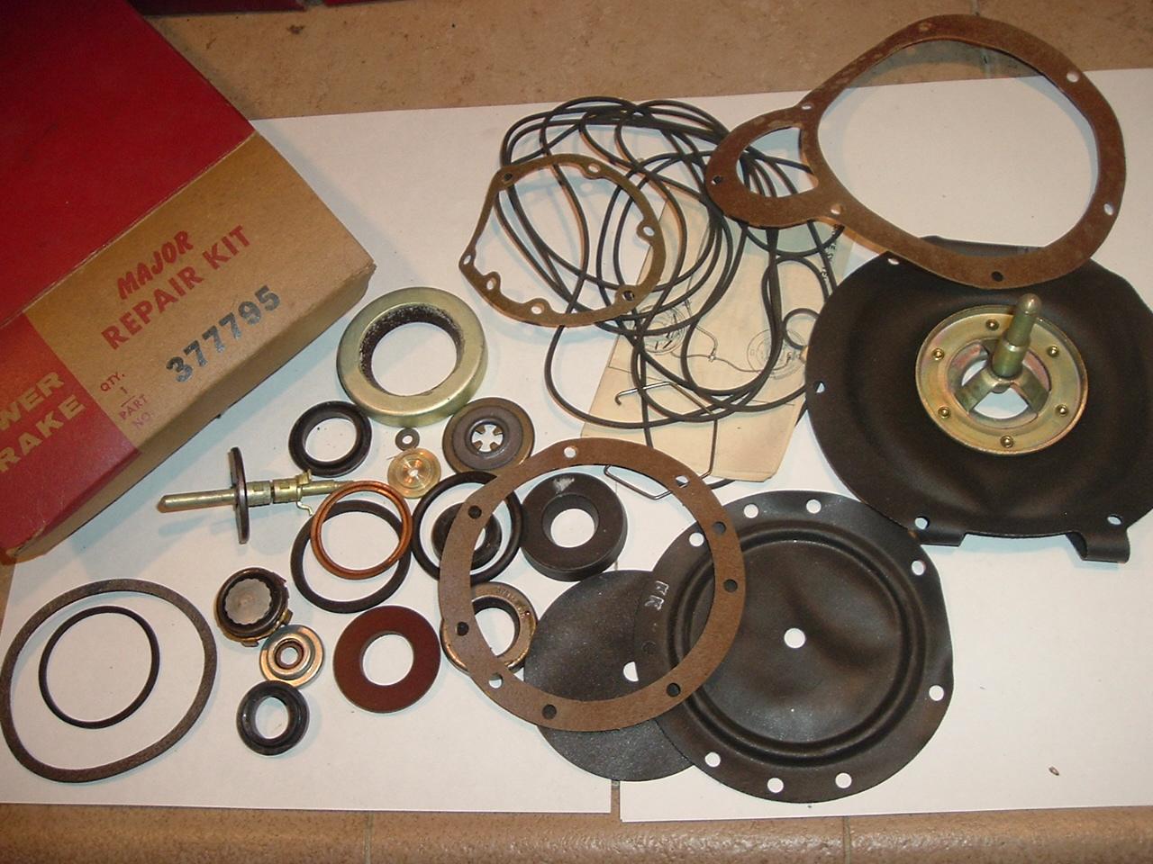 1956 57 58 59 Dodge truck power brake major overhaul kit 2 1/2 - 4 ton (a 377795)