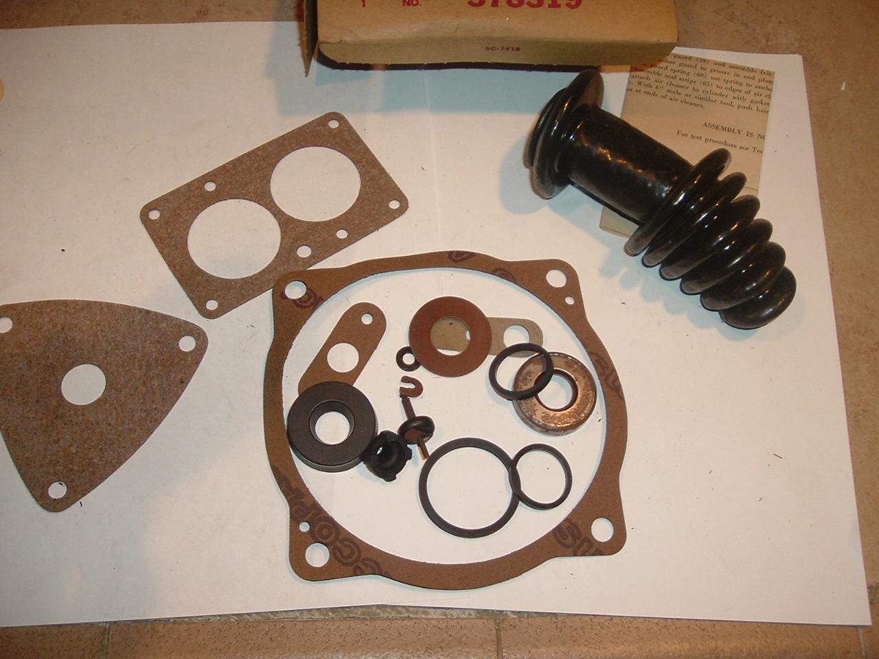 194 Chevrolet 7 Hudson Bendix power brake major rebuild kit (a 378319)