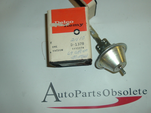 View Product1967 68 69 Pontiac 400 distributor vacuum advance 1115374