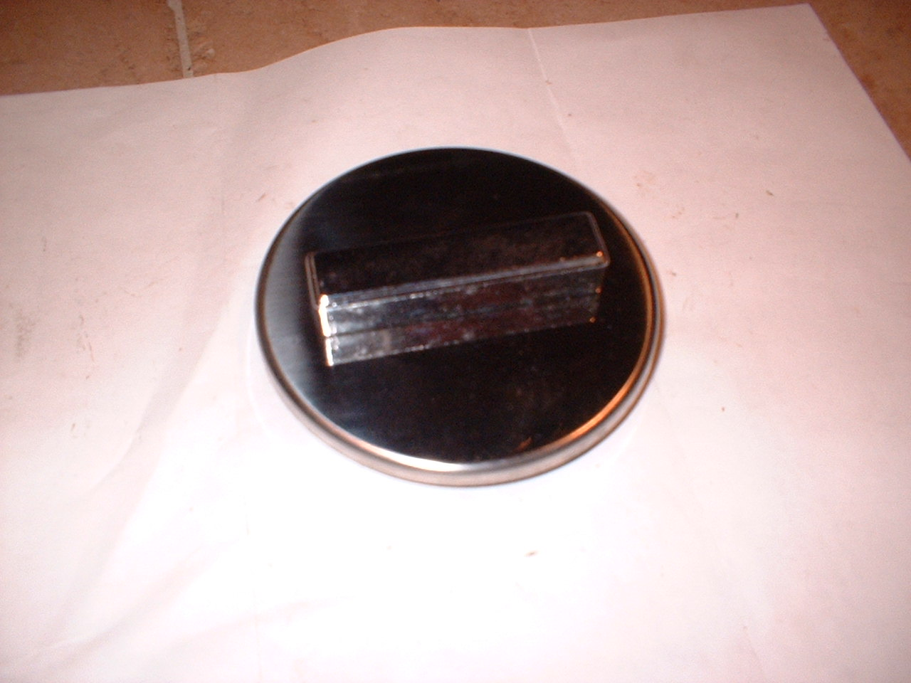 1965 66-67 chevrolet nova all chrome gas cap (a dgs29)