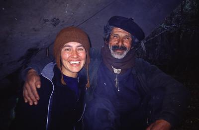 Chile, Patagonia, Valle Río Bravo, Campo El Alegre, Don Eraldo Rial
