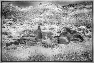Death Valley Truck BW