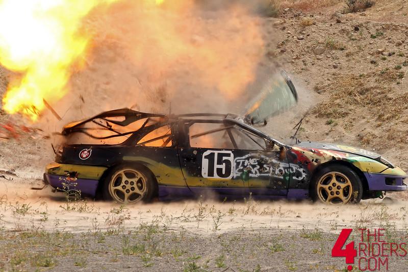 lemons 300z explodes explosion reno fernley raceway