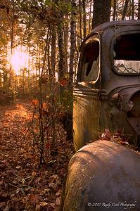 Truck in junkyard