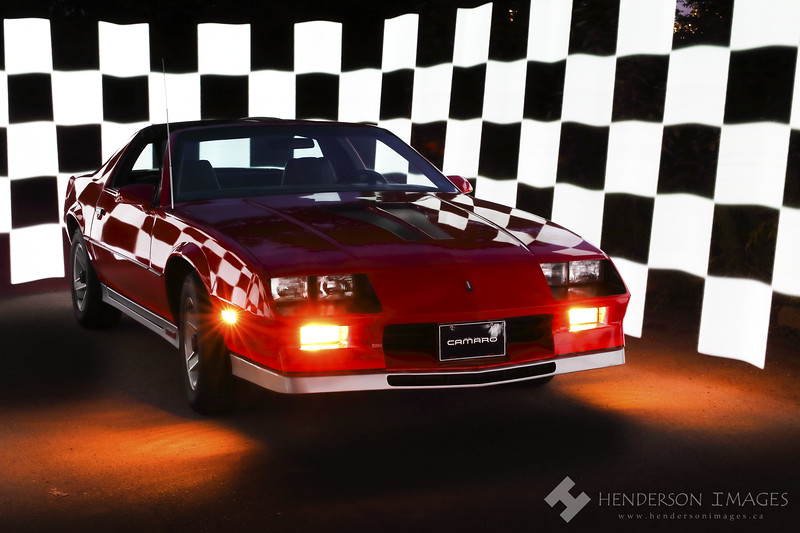 1983 Z28 with Checkered Flag