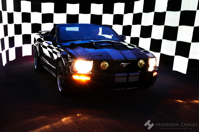 2005 4.6L Mustang Convertible with Checkered Flag
