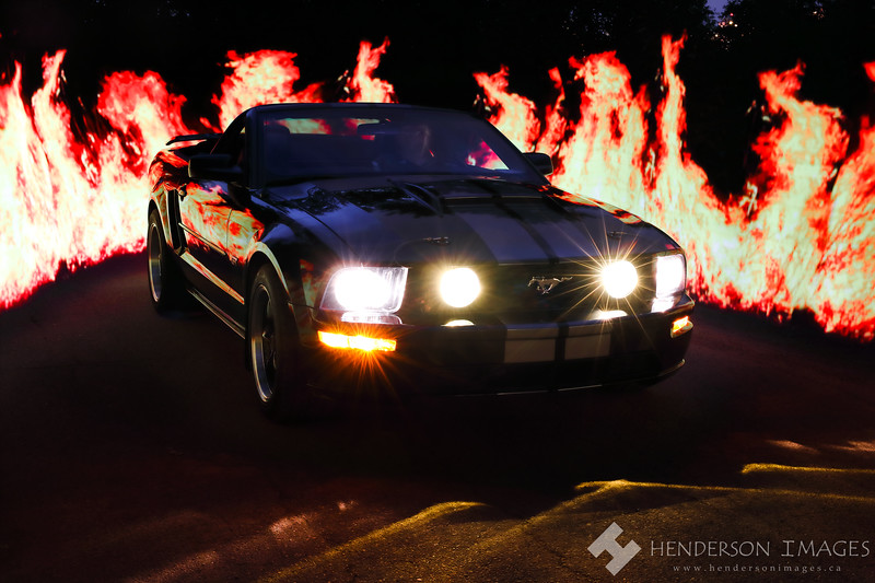 2005 4.6L Mustang with Flames
