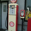 vintage Flying A Gasoline and Air pumps