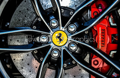 2018 Ferrari Rim (Red Calipers)