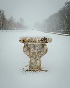 Parc du chateau de Rambouillet sous la neige