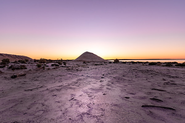 Sunset at Lake Tyrrell