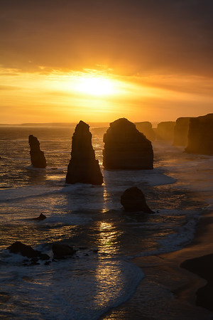 The 12 Apostles at sunset - portrait