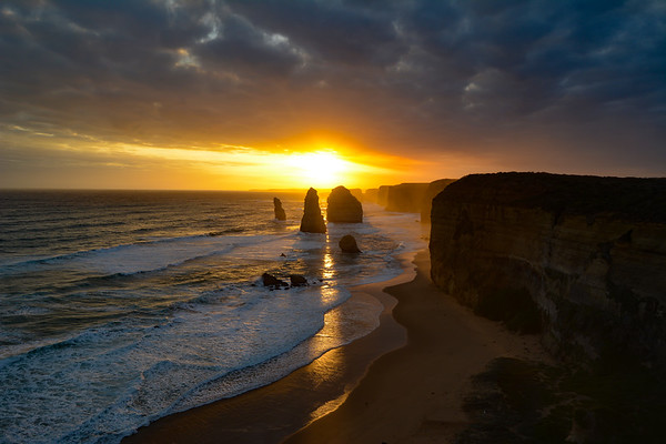The 12 Apostles at sunset