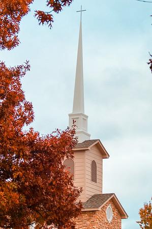 Trinity Presbyterian Church in Fall