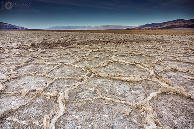 Death Valley National Park, California. Thankgiving break.  Salt polygons along West Side Road.