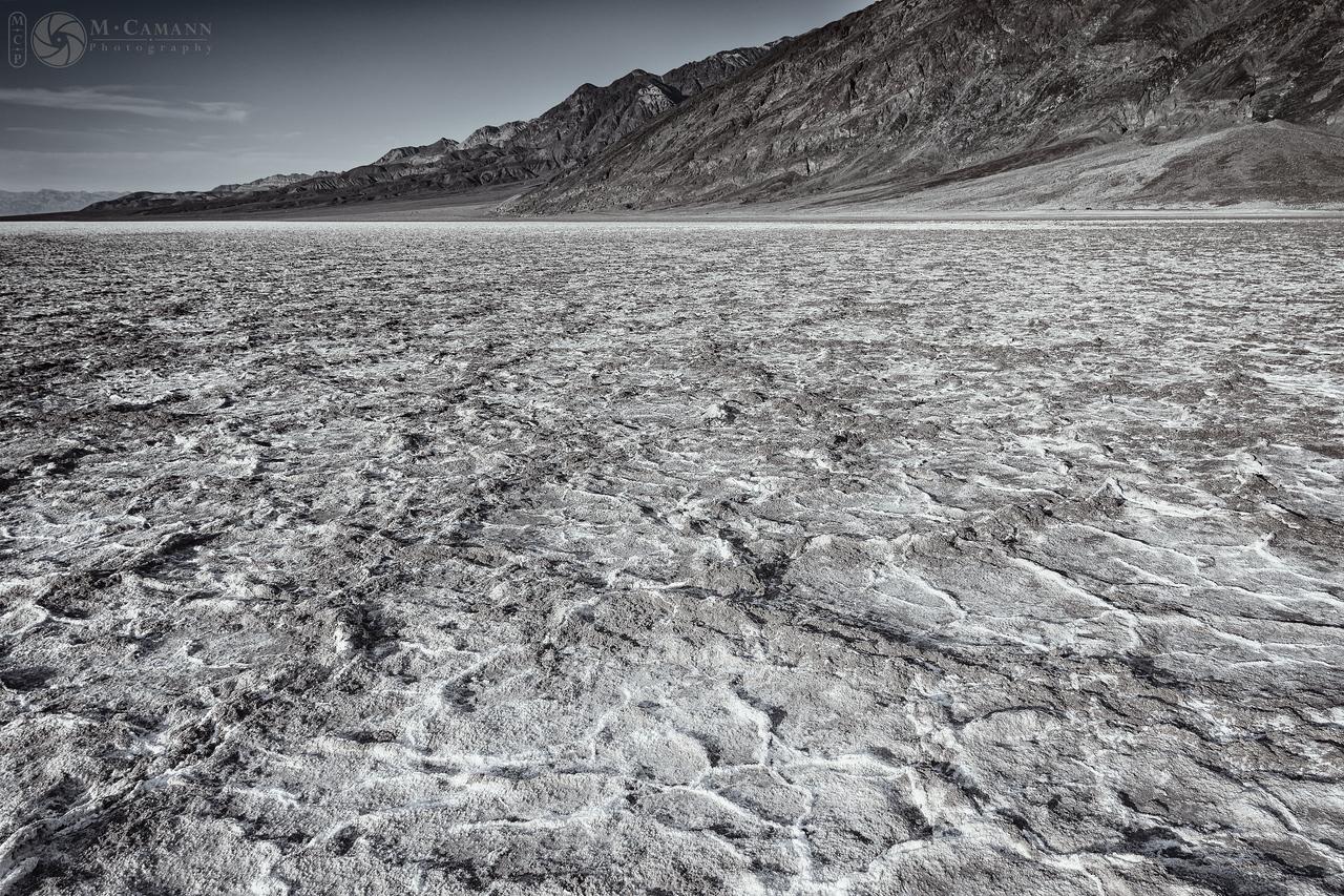 Death Valley National Park, California. Thankgiving break.  Salt crusts at Badwater Basin.