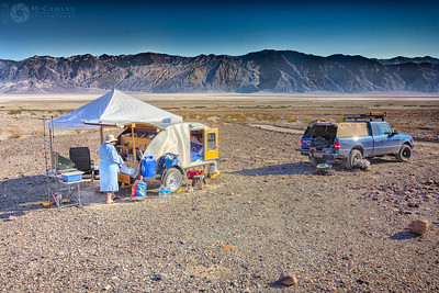 Death Valley National Park, California. Thankgiving break.  Morning light in Hanaupah Canyon camp.