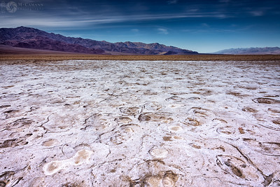 Death Valley National Park, California. Thankgiving break.  Salt crust in Death Valley along West Side Road.