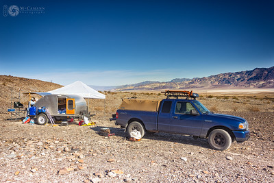 Death Valley National Park, California. Thankgiving break.  Our Hanaupah Canyon camp.
