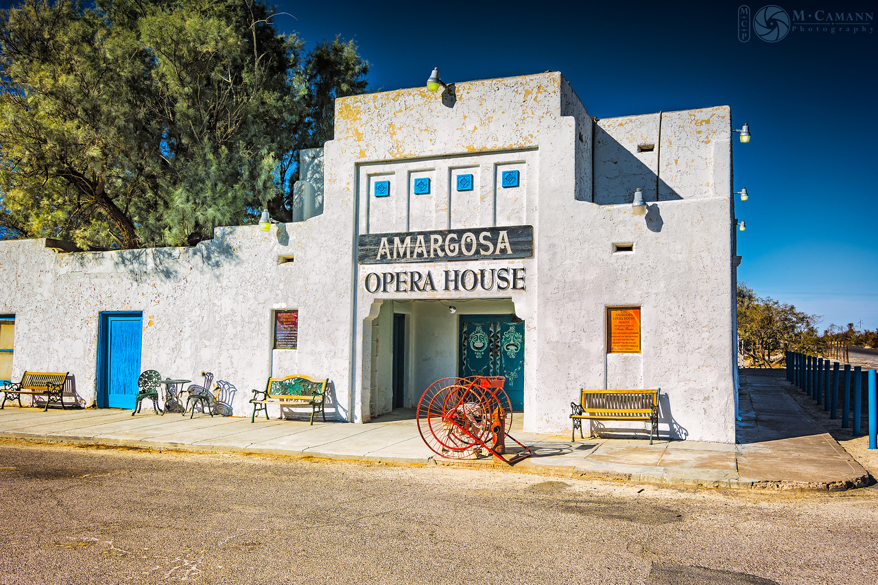 Death Valley Junction, California. Thankgiving break.  The Amargosa Opera House at Death Valley Junction.