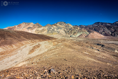 Death Valley National Park, California. Thankgiving break.  Colorful hills at Artist's Palette