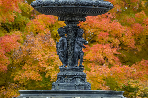 The fountain in Taylor Park, St. Albans, Vermont