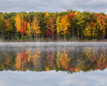 Misty Autumn Reflections