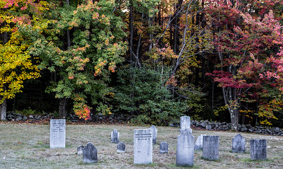 October in Vermont,  200 year old cemetary
